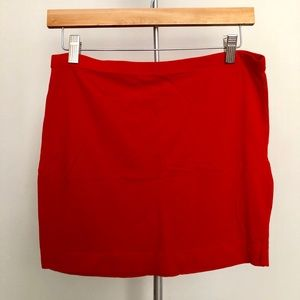 Bright Red H&M Jersey Skirt
